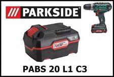 3Ah Bateria Taladro Atornillador Parkside PAP 20 A2 Battery Drill PABS 20 Li C3