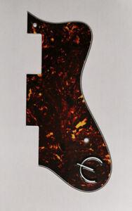 Guitar parts For Epiphone ES335 Dot Guitar pickguard & E Logo , Brown Tortoise