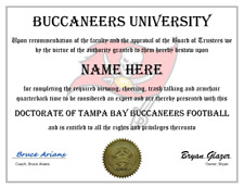 TAMPA BAY BUCCANEERS PERSONALIZED FAN AWARD, GREAT GIFT