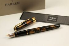 Parker Sonnet Fountain Pen Chinalack Black/Gold 18KT M- Feather New