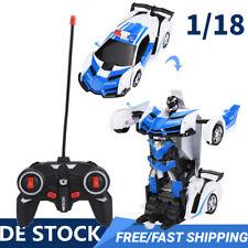 1/18 Spielzeug Transformer Polizeiauto Roboter Kindel Wagen mit Musik Licht NEU