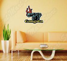 "Gangsta Gangster Gun Mafia Wall Sticker Room Interior Decor 25""X20"""