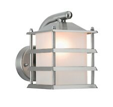 Outdoor Stainless Steel Stylish Lantern Wall Light Garden With Energizer 6w LED