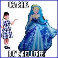 Cinderella 3ft Tall Birthday Disney Princess Balloons birthday Princess Disney
