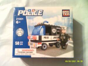 BRIC TEK BUILDING BLOCKS POLICE JEEP & FIGURE SET 21001