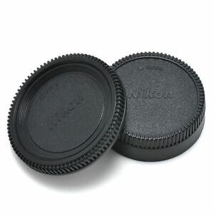 2x/Set Body Lens Cap Front +Rear Cover For Nikon AF AF-S Lens DSLR SLR Camera_AU