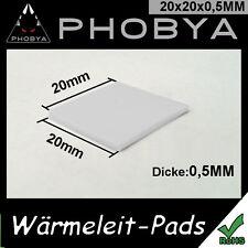 [Phobya ™] 0,5mm wärmeleitpad XT 20x20mm → 7w/mk RAM CPU GPU thermalpad