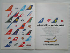 3/1980 PUB AIRBUS A300 A310 AIRLINER AIRLINES TAILS PIA SAS KLM LAKER SABENA AD