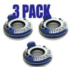 "Intex River Run 1 Blue 3  Pack Inflatable 53"" Tube FloatRaft Beach + FREE Ship!"
