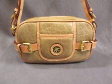 Auth HUNTING WORLD Beige Battue leather Shoulder Bag