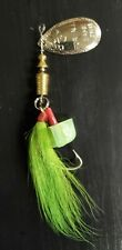 Inline Trout Spinners Green Bucktail