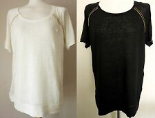 Zara Scoop Neck Hip Length Casual Tops & Shirts for Women