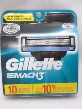Gillette Mach3 Razor Shaver Blade Cartridges Refills 10 Count Cartridges Only