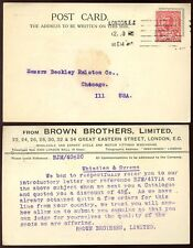 Gb kg5 1912 Downey Perfin hermanos Brown Tarjeta a Chicago... ciclos + Motor