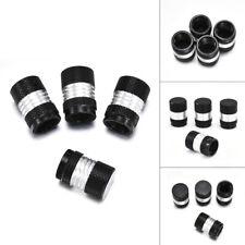 4X Black Car Tire Tyre Rim Wheel Air Valve Stem Dust Cap Covers Trim Accessories