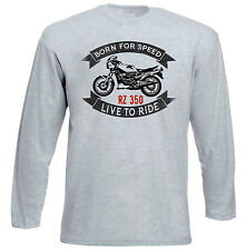 YAMAHA RZ350-New Grey T-shirt A Maniche Lunghe-Tutte le taglie in magazzino