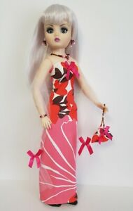 "CISSY DOLL CLOTHES OOAK Gown, Wrap, Purse & Jewelry 21"" HM Fashion NO DOLL d4e"
