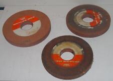 Lot de 3 meules plates Ø 200 mm / 185 mm - Ø alésage 50,8 mm