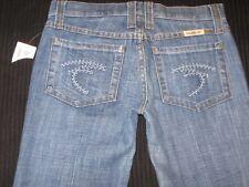 Frankie B Jeans F Pocket Low Waist Full Wide Leg Flare w Cuff Hems Sz 0 NEW $198