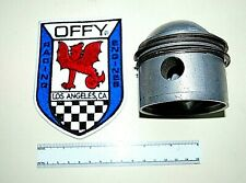 "VINTAGE OFFENHAUSER ""OFFY"" RACING ENGINES PATCH AND 110 PISTON . MIDGET RACE CAR"
