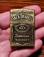 Jack Daniels Lighter-Brass Windproof Flip Top Butane Refillable Lighter