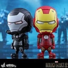 Hot Toys Cosbaby Iron Man Mark 3 & War Machine Comic Color Version Set Marvel