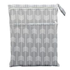 Wet Dry Bag Baby Cloth Diaper Nappy Bag Reusable 2 Zippers Pocket Arrow