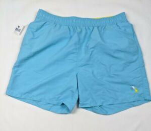 Polo Ralph Lauren Swim Ocean Blue Teal Swim Trunks Mesh Lined Size XXL 2XL