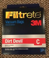 Dirt Devil Type C Deluxe Vacuum Bags (9 Pack), 3700148001 BRAND NEW!!!