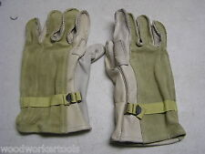 Heavy Duty Cattle Hide Work Gloves Size #4 (LARGE) Double Strength Palm Leather