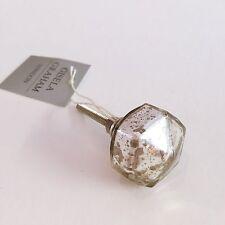 Gisela Graham Silver Mercury Glass Drawer Handles/Door Knobs, Clear Glass Lustre