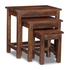 MANGO WOOD NEST OF 3 TABLES (H3D)
