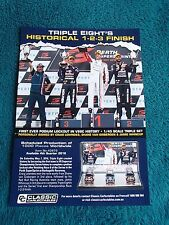 CLASSIC CARLECTABLES 1:43 BROCHURE TRIPLE SET 1ST PODIUM LOCKOUT 888 LOWNDES