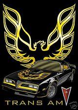1977 Pontiac FIREBIRD TRANS AM & Logo, Black/Gold, Refrigerator Magnet, 40 MIL