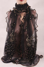 Fashion Women Peacock Scarf Long Soft Scarf Wrap Scarves Vintage Stylish ShawEC,