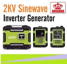 New Bossking Inverter Generator Camping Portable Sinewave 2KVA Max /1.6KVA Rated