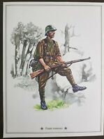Vintage stampa Militare Fante Romeno cm 28 x cm 21