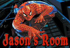 015 MARVEL THE AMAZING SPIDER-MAN PETER PERSONALIZED CUSTOMIZED DOOR ROOM POSTER