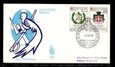 FDC SMOM convenzione postale con il Guatemala
