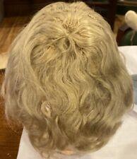 """A17 Antique 12-12 1/2"""" Kestner Light Blond Mohair Wig for Antique Bisque Doll"""