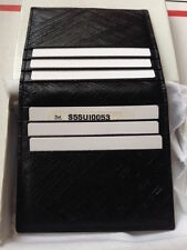 Maison Martin Margiela Wallet Black Leather 8 credit card with internal pocket