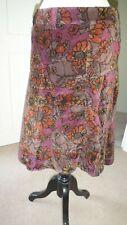DIESEL Womens Velvet Skirt W26 L24 Multi 100% Cotton
