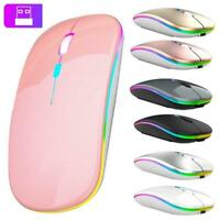 NEW 2.4GHz Wireless Optical Mouse Mice USB Rechargeable LED For PC Computer NICE