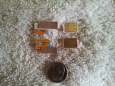 Lot of 3 At&T Nano Sim Cards Testing&Bypass Only! Not For Activation! Read Info!