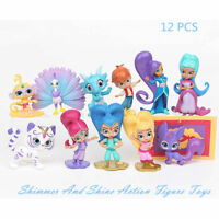 12X Shimmer And Shine Action Figure Toys Leah Kaz Tala Nahal For Kids Collection