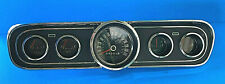 1966 Ford Mustang Black Gauge Dash Cluster Reconditioned Standard  #2012