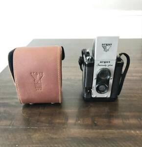 Vintage ARGUS Seventy-Five Antique Camera Flash Case Bakelite Mid Century