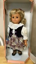 """ENGEL PUPPE 18"""" BLONDE DOLL German in BOX NIB+ shipper ,tag and stand"""