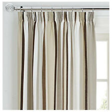 "Striped Brown Cream Beige 18"" Cushion Cover to Match Curtain Drapes"