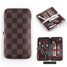 12 Manicure Set Nail Clipper File Earpick Tweezer Pedicure Scissor Kit Men Women